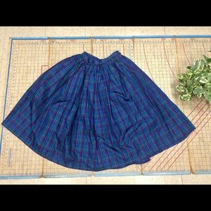 Dresses & Skirts - Retro/Vintage plaid taffeta midi skirt size 6